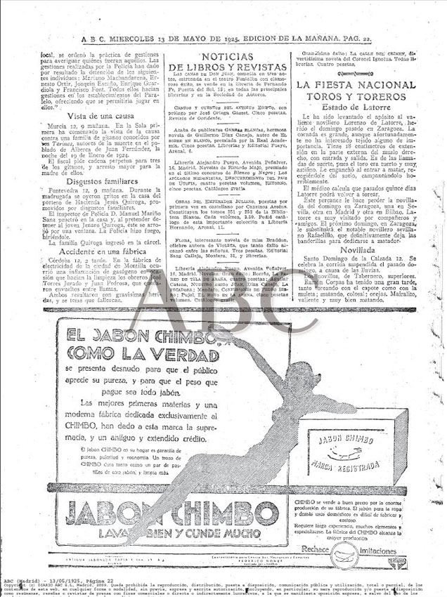 ABC Madrid 13.05.1925 Pág.22